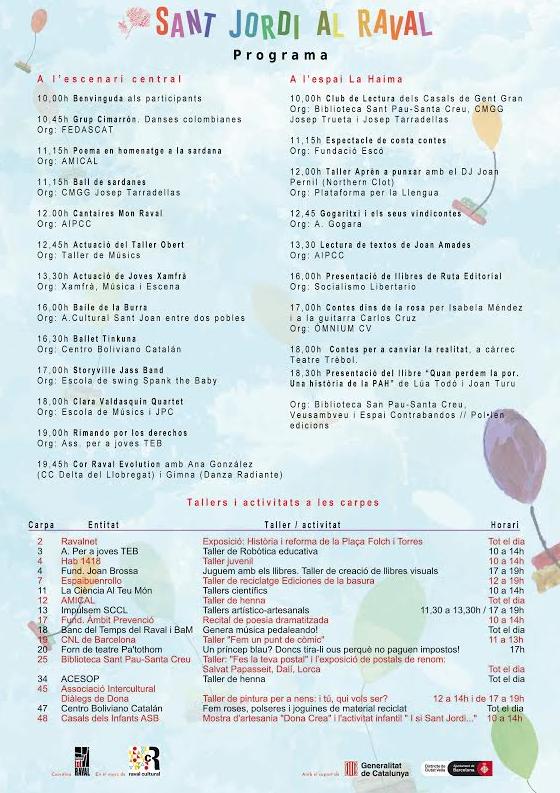 programa Sant Jordi 2016